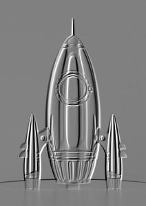 Embossed Rocket